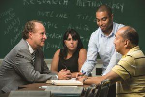 teacherand3students