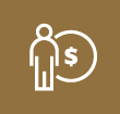 Person and dollar coin icon