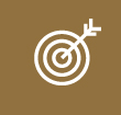 Bulls-eye target with arrow icon