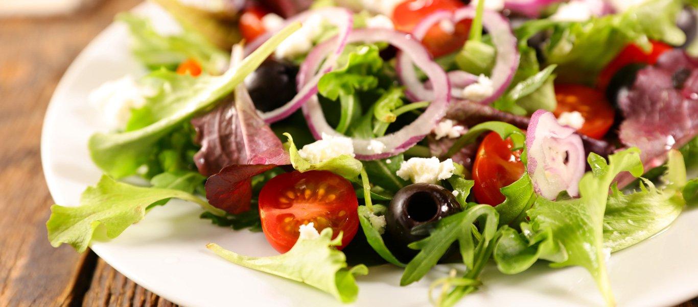 WAU Fresh Salad on White Plate
