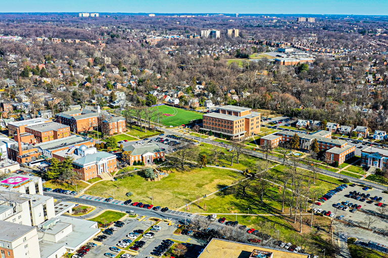 WAU Campus Bird Eye View 200 ft.