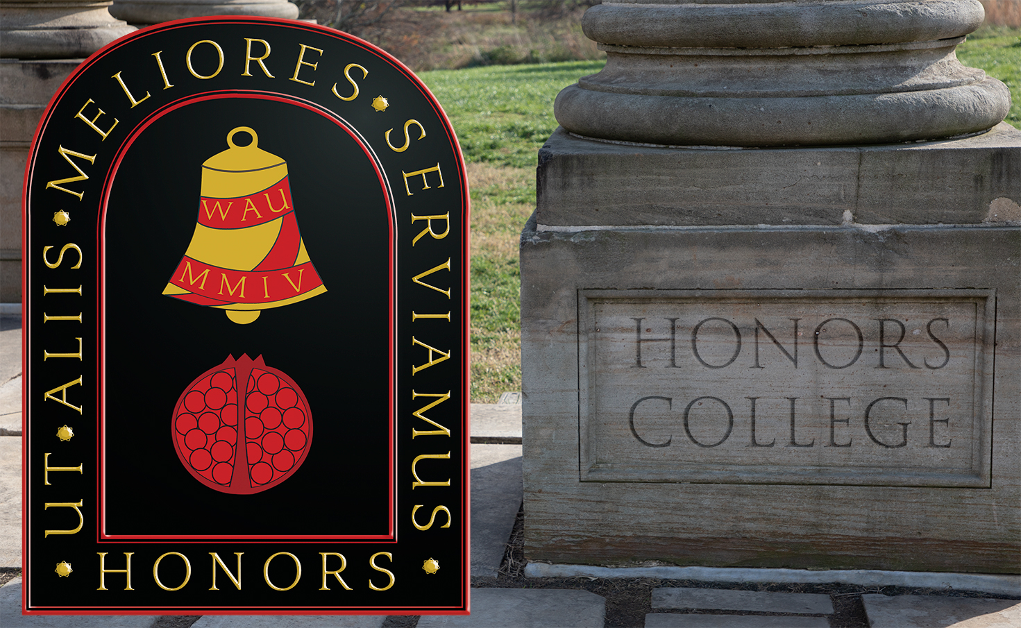 Honors College Image with Pillar Base