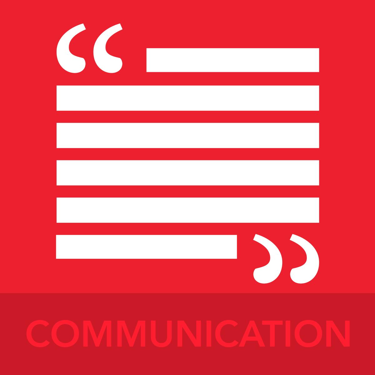 COMMUNICATION ICON BUTTON